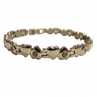 Magnetic stainless Steel Bracelet crystal Heart