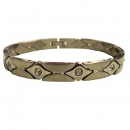 Magnetic stainless Steel Bracelet Crystal Diamond