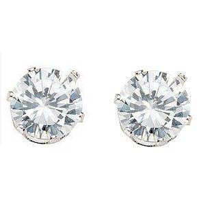 Magnetic Round CZ Stud Earring