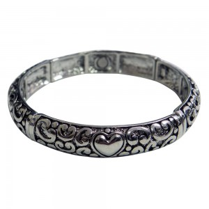 Magnetic Bangle Bracelet with Heart Design