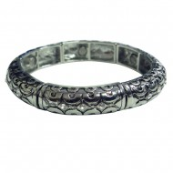 Magnetic Bangle Bracelet with Crystals