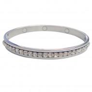 Magnetic CZ Bangle Bracelet
