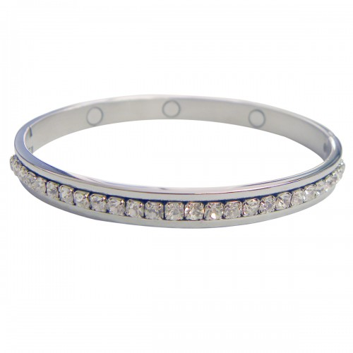 Magnetic CZ Bangle Bracelet