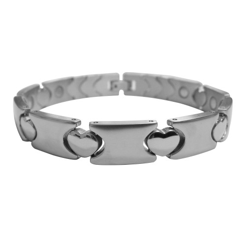Magnetic Bracelet Linked Heart