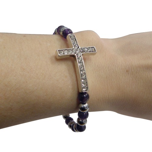 Magnetic Bangle Bracelet Cross