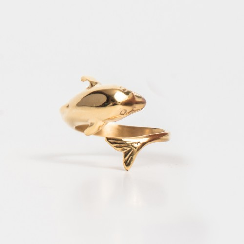 Stainless Steel Dolphin Magnetic Ring