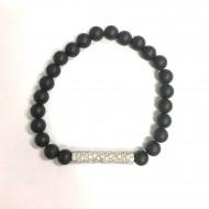 Black bead Bracelet with...