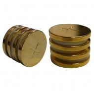 ROUND MAGNETIC GOLD DISCS 1 INCH BY 3 MILLIMETER