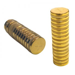 MAGNETIC GOLD DISCS 1/2 INCH BY 2 MILLIMETER
