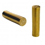 QUARTER INCH MAGNETIC GOLD DISCS BY 1MM`