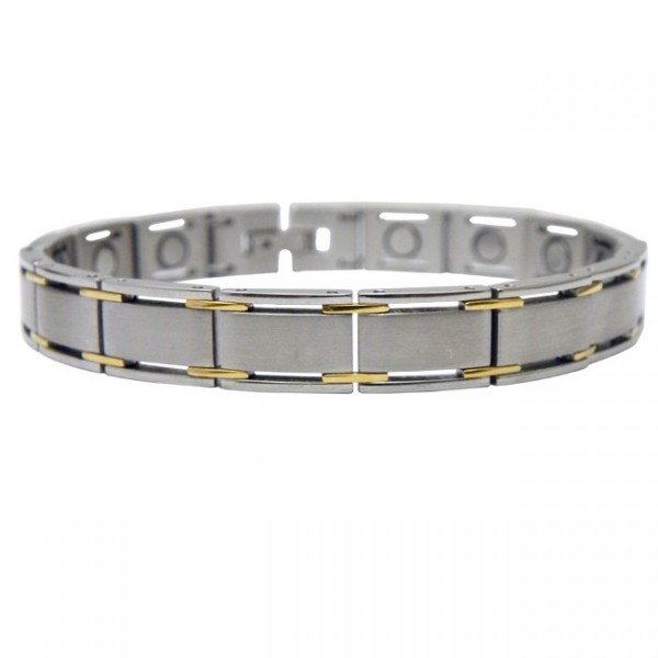 Magnetic Stainless Steel Bracelet Square Link
