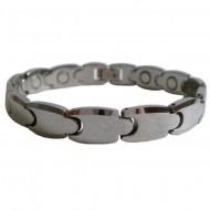 Magnetic Tungsten Bracelet Small Matrix Silver