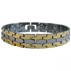 Magnetic Tungsten Bracelet Puzzle Silver and Gold