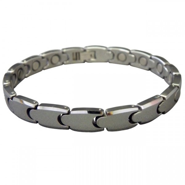 Magnetic Tungsten Bracelet Small Matrix Silver