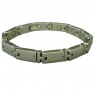 Magnetic Tungsten Bracelet Turtle Silver