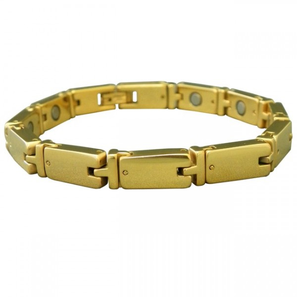 Magnetic Tungsten Bracelet Turtle Gold