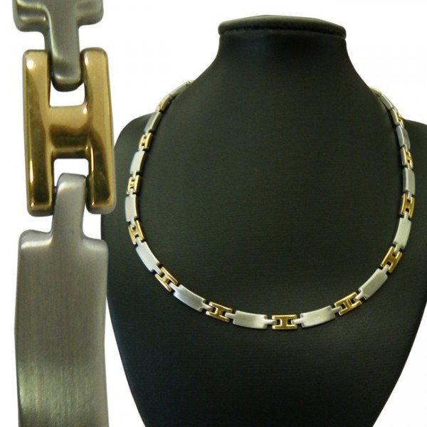 Magnetic Stainless Steel Necklace Thin H