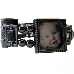 Magnetic Hematite Picture Frame Bracelet