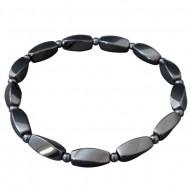 Magnetic Hematite Long Spiral Bead Bracelet