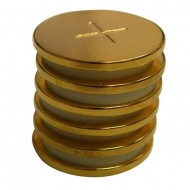 Round Magnetic Gold Discs 1 inch by 2 millimeter