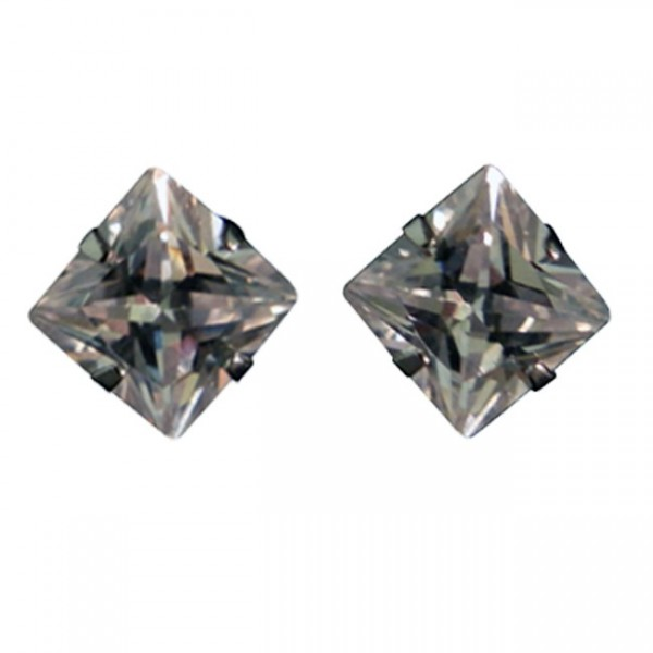 Magnetic Solitaire CZ Stud Earring