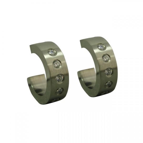 Magnetic CZ Hoop Earring
