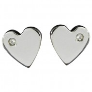 Magnetic Heart CZ Earring