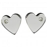 Magnetic Heart CZ Earring