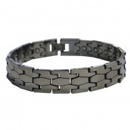 Magnetic Tungsten Bracelet Puzzle Silver