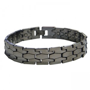 Magnetic Tungsten Bracelet Puzzle Silver