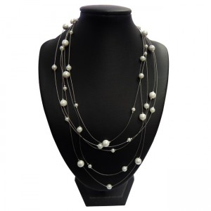 Magnetic Hematite Floating Pearls Necklace