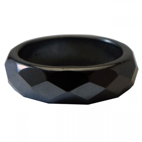 Hematite Faceted 6mm Ring