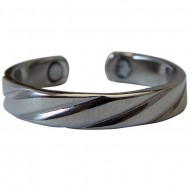 Magnetic Swirl Toe Ring