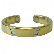 Magnetic Gold Diamond Toe Ring