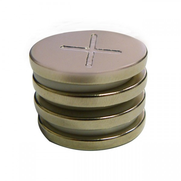 Magnetic Nickel Discs 1 inch by 3 millimeter
