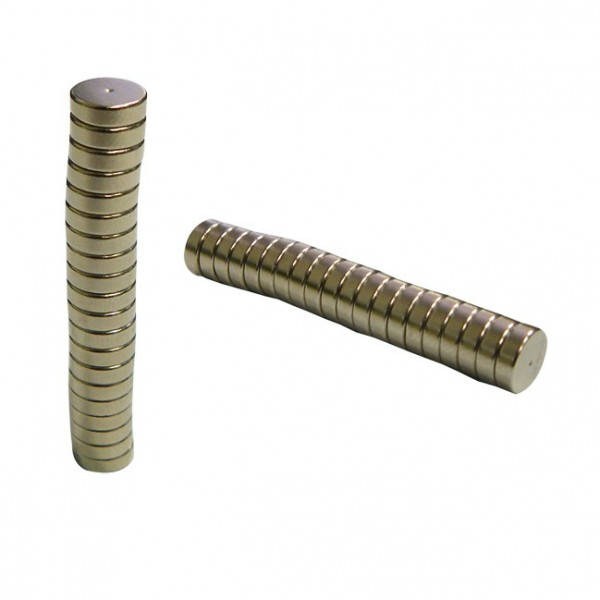 Magnetic Nickel Discs Quarter inch by 2 millimeter
