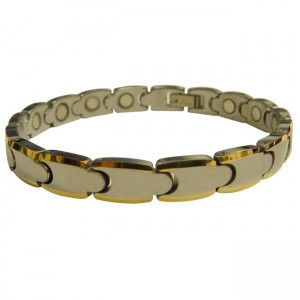 Magnetic Tungsten Bracelet Small Matrix Silver and Gold