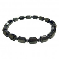 Magnetic Hematite Cube and Bead Bracelet