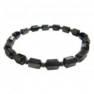Magnetic Hematite Cube and Bead Bracelet
