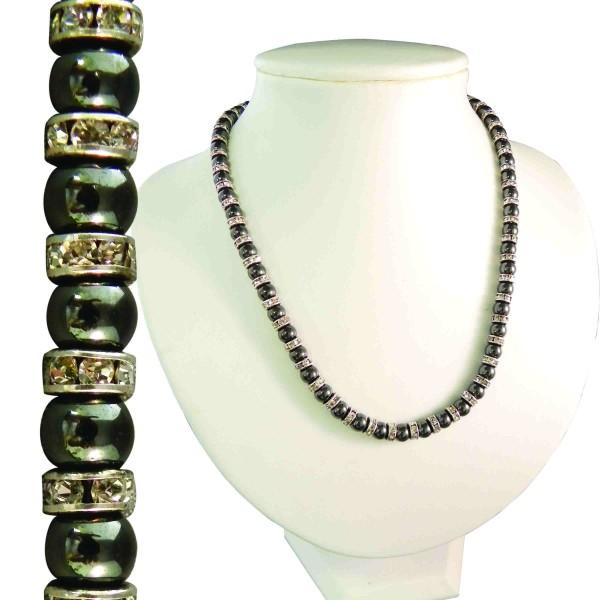 Magnetic Hematite Tuchi Pearl Necklace