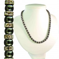Magnetic Hematite Tuchi Pearl Necklace