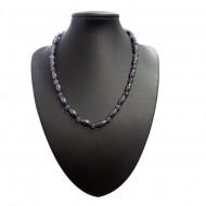 Magnetic Hematite Necklace Purple Bead