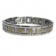 Magnetic Stainless Steel Bracelet Flat Screwhead